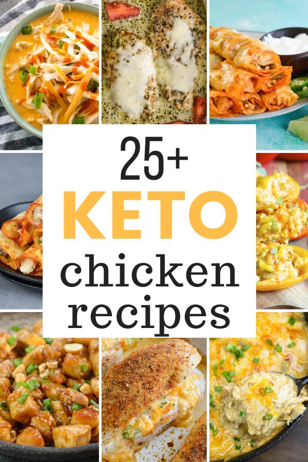 25+ Easy Keto Chicken Recipes that will make your low carb meal planning easy!