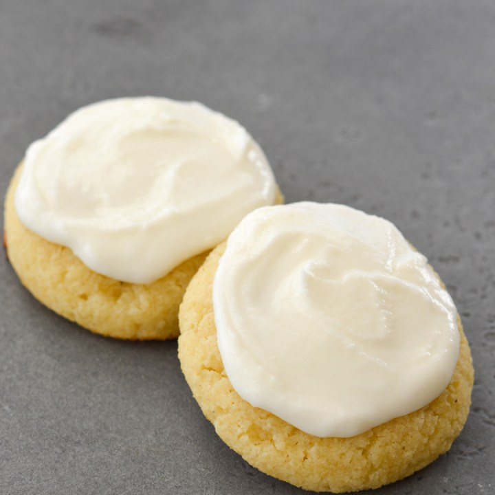 This is the perfect Keto Sugar Cookie Recipe! These almond flour sugar cookies have the delicious, soft, melt in your mouth texture, just like traditional Lofthouse sugar cookies, and contain about 2 net carbs each!