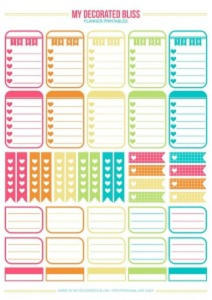 Printables Free Planners