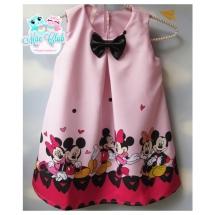 Vestido Trapézio Minnie Mouse