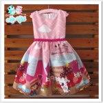Vestido Temático Infantil Fazendinha