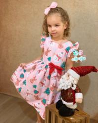 Vestido Natalino Infantil (COD 27.10.19.08)