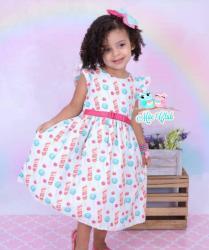 Vestido Natalino Infantil (COD 27.10.19.06)