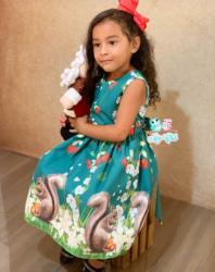 Vestido Natalino Infantil (COD 27.10.19.02)