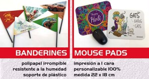Sublimania: banderines y mouse pads