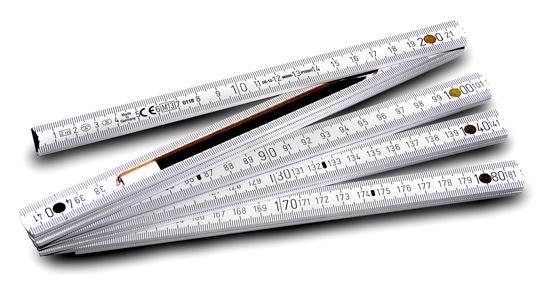 Regla plegable con lápiz integrado