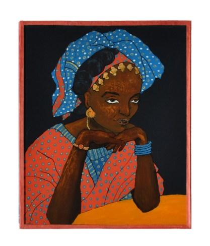 peinture sur verre d'après Mama Casset