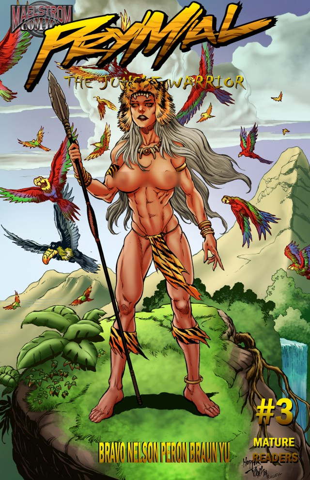 PTJWMT Prymal: The Jungle Warrior #3 Mountain Top Cover (2nd Print)