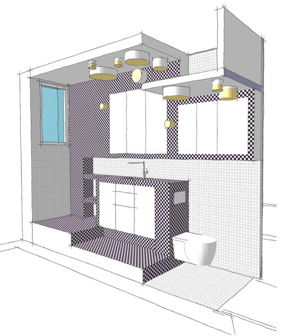 Salle de bain pix dans un couloir de 90cm de large - Salle de bain dans un couloir ...