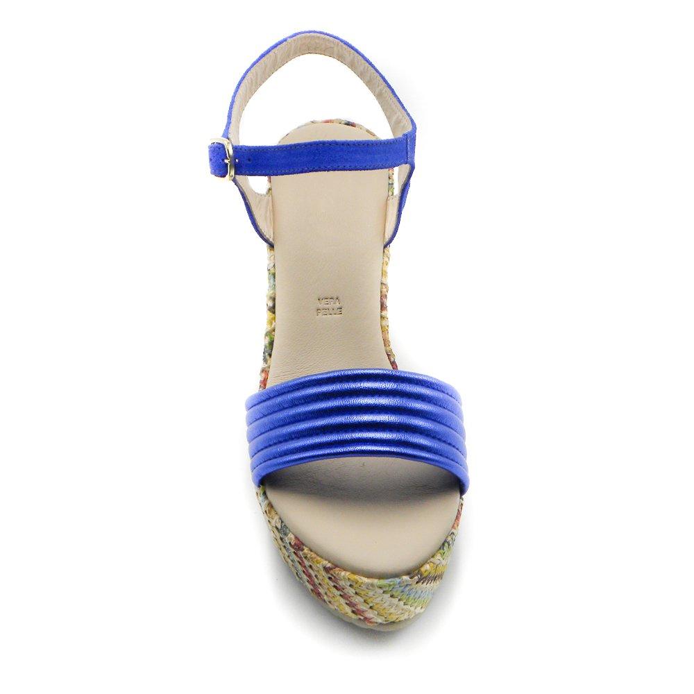 Maemi scarpa sportiva zeppa 80mm con fascia anteriore bombata – blue elettrico (1)