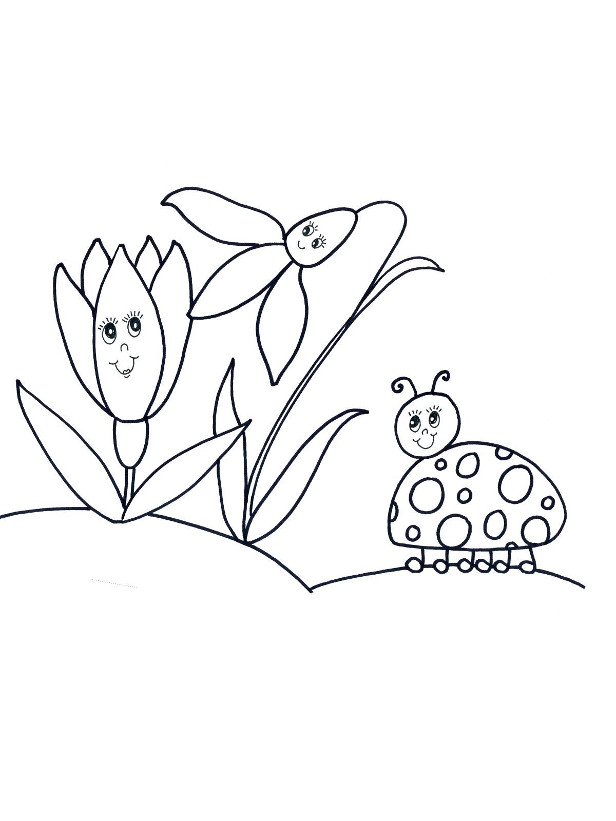 Malvorlage Frühling 39 zum Ausdrucken Märchen aus aller