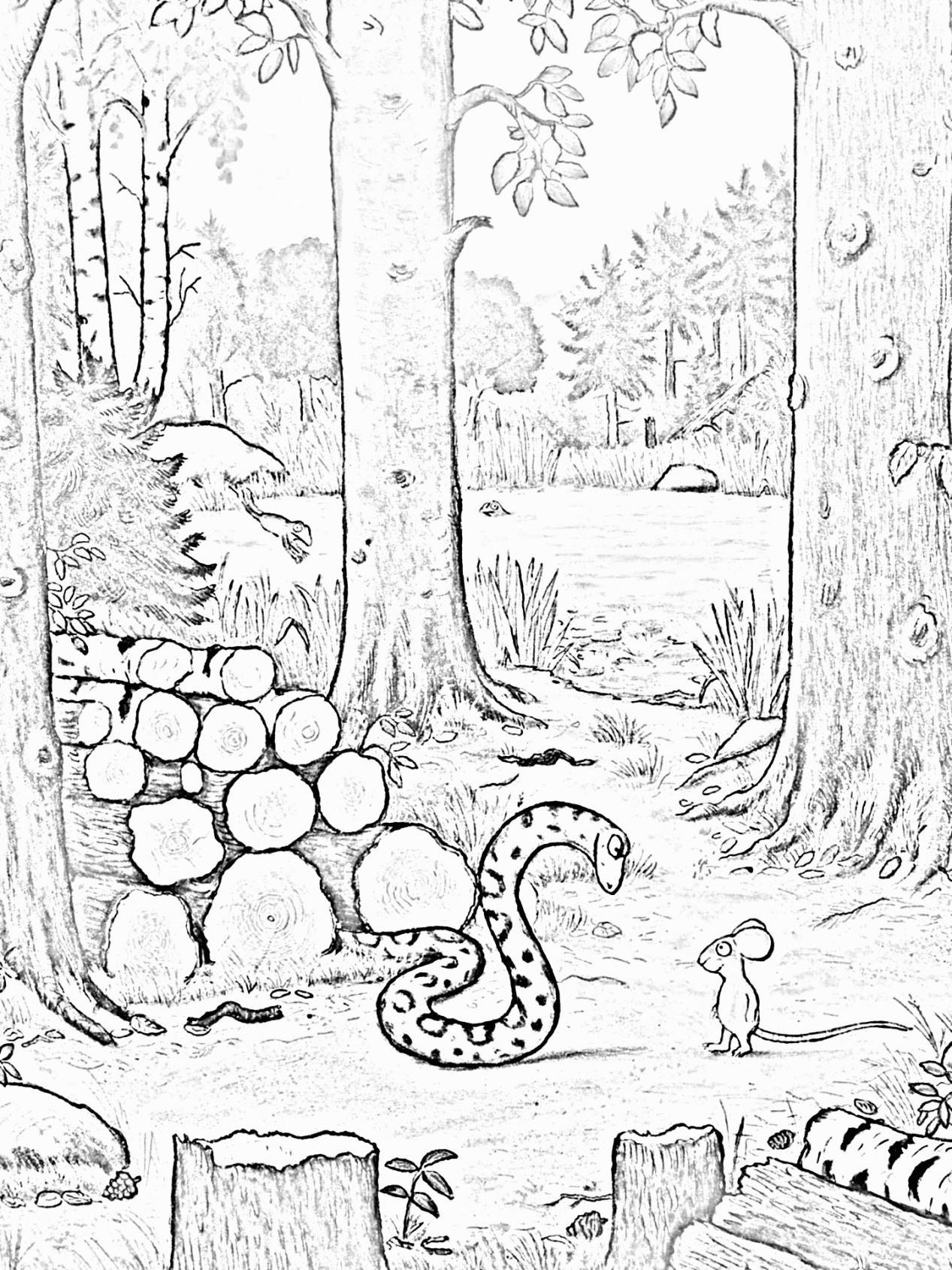 Malvorlage Grüffelo kostenlos Märchen aus aller Welt