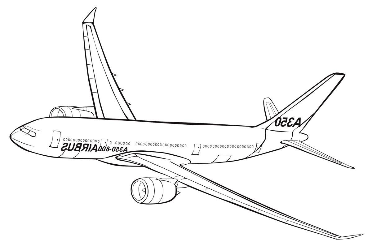 Coloring Pages Airbus A320 Sketch Coloring Page
