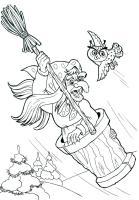 Ausmalbilder, Malvorlagen von Baba Jaga kostenlos zum ...