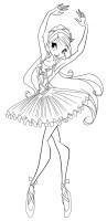 Ausmalbilder, Malvorlagen – Ballerina kostenlos zum ...