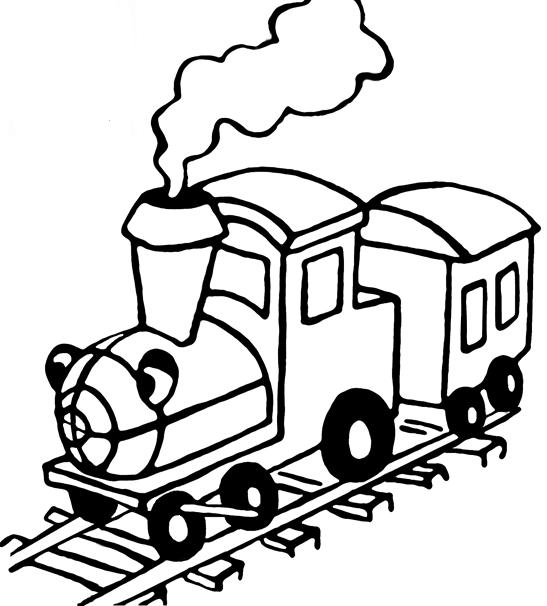 Ausmalbilder Malvorlagen - Dampflokomotive kostenlos zum