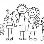 Ausmalbilder Malvorlagen - Familie kostenlos zum