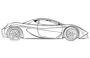 Ausmalbilder, Malvorlagen – Ferrari kostenlos zum ...