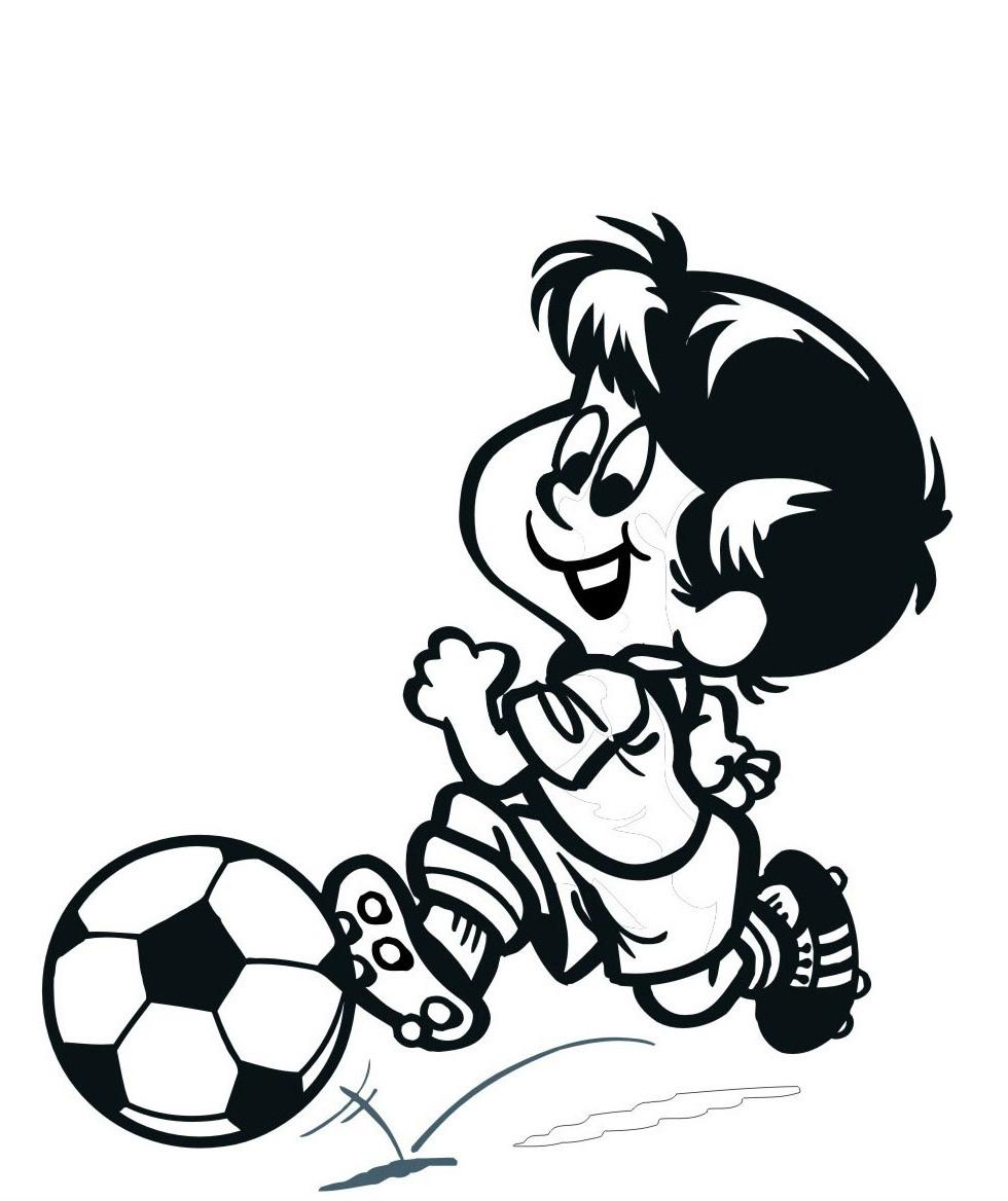 Ausmalbilder Malvorlagen - Fußballspieler kostenlos zum