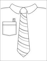 Ausmalbilder, Malvorlagen – Krawatte kostenlos zum ...