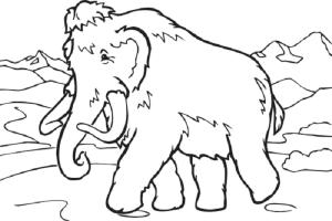 Ausmalbilder, Malvorlagen – Mammut kostenlos zum ...