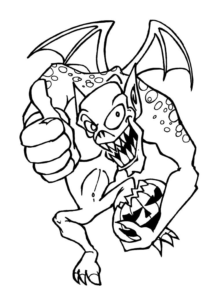 Ausmalbilder Malvorlagen - Monster kostenlos zum