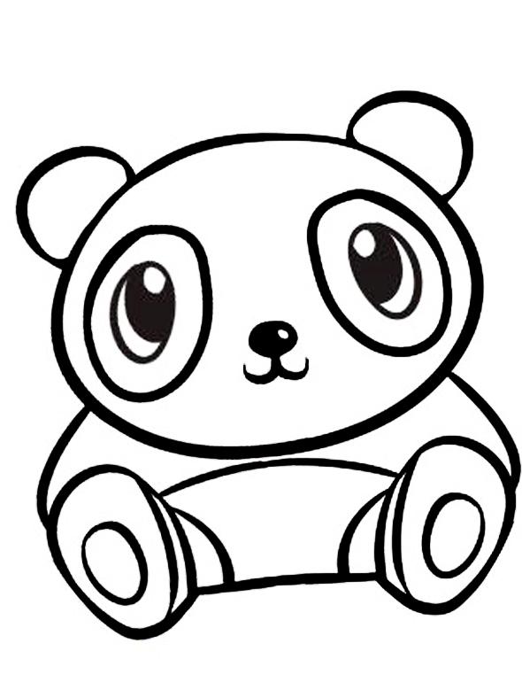 Ausmalbilder Malvorlagen - Panda kostenlos zum Ausdrucken