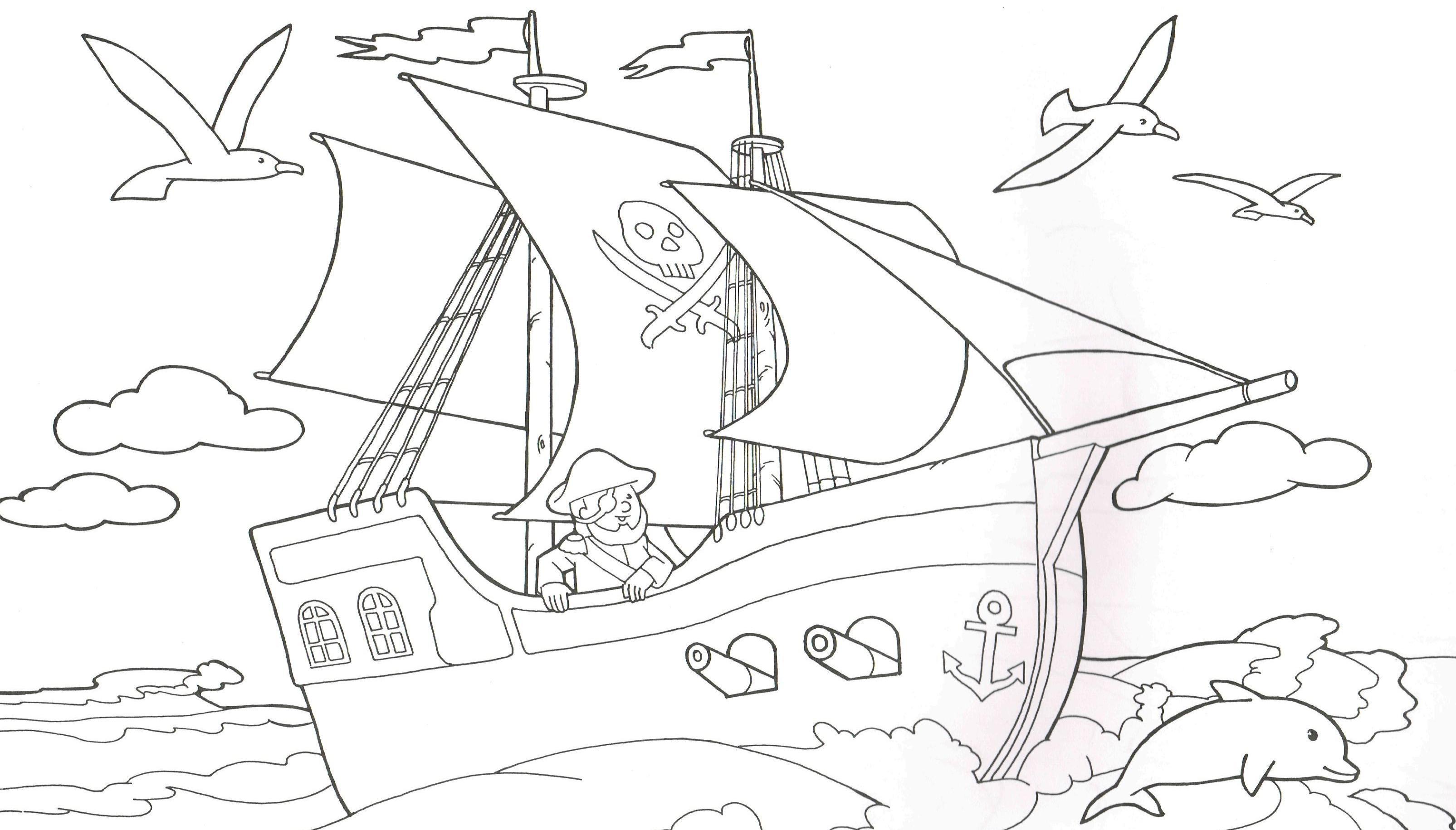 Malvorlage piratenschiff Coloring and Malvorlagan
