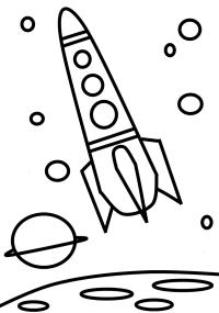 malvorlage kinder rakete - kinder zeichnen und ausmalen