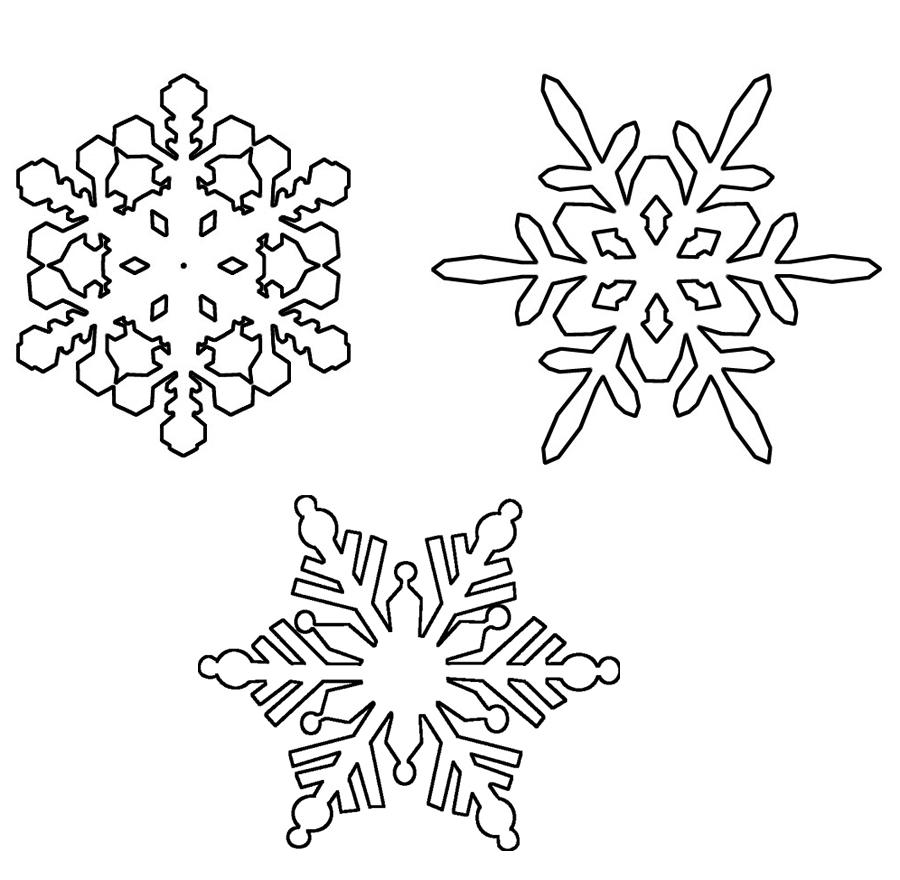 Ausmalbilder Malvorlagen - Schneeflocken kostenlos zum