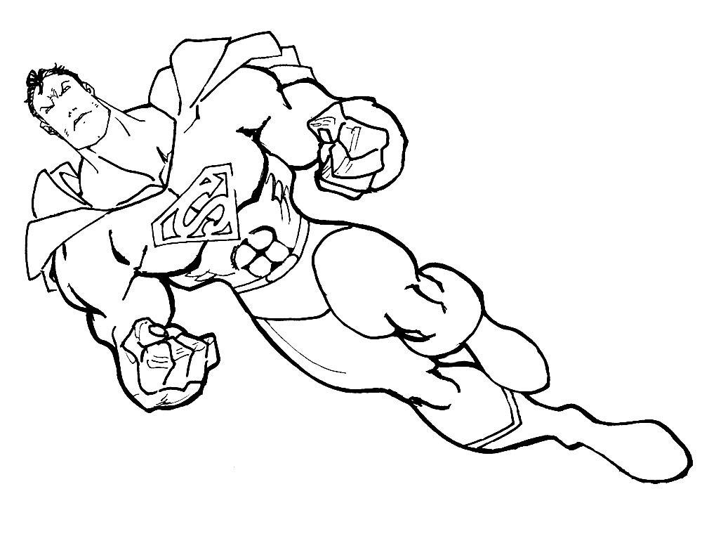Ausmalbilder Malvorlagen von Superhelden kostenlos zum