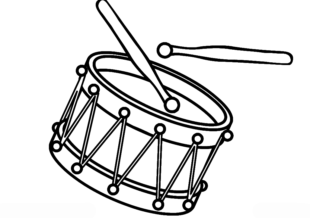 Ausmalbilder Malvorlagen - Trommel kostenlos zum