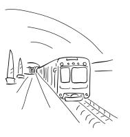 Ausmalbilder, Malvorlagen von U Bahn kostenlos zum ...
