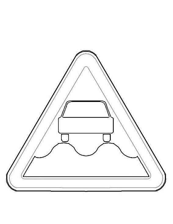 Ausmalbilder Malvorlagen von Verkehrszeichen kostenlos