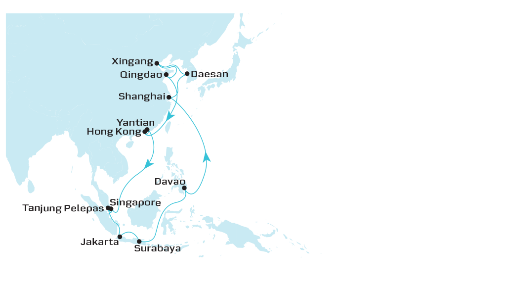 Intra Asia 8 Roundtrip | Asia Pacific | Maersk