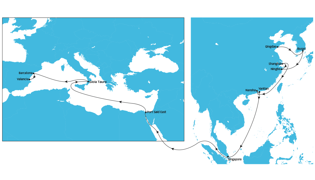 Ae11 Westbound | Asia Pacific | Maersk