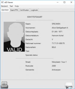identiteitskaart, uitprint, eID