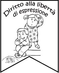 Diritti Dei Bambini Schede Da Colorare Disegno