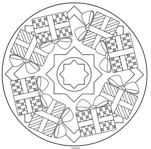 Mandala De Navidad Para Colorear Mandala 4 Mandalas De