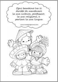 I Diritti Dei Bambini Schede Da Colorare 30 Disegno