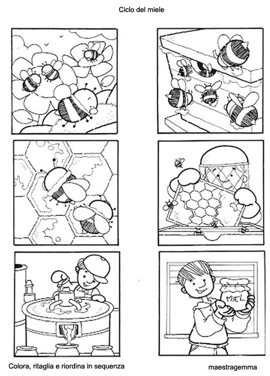 Storie Da Colorare Per Bambini AP62 ~ Pineglen