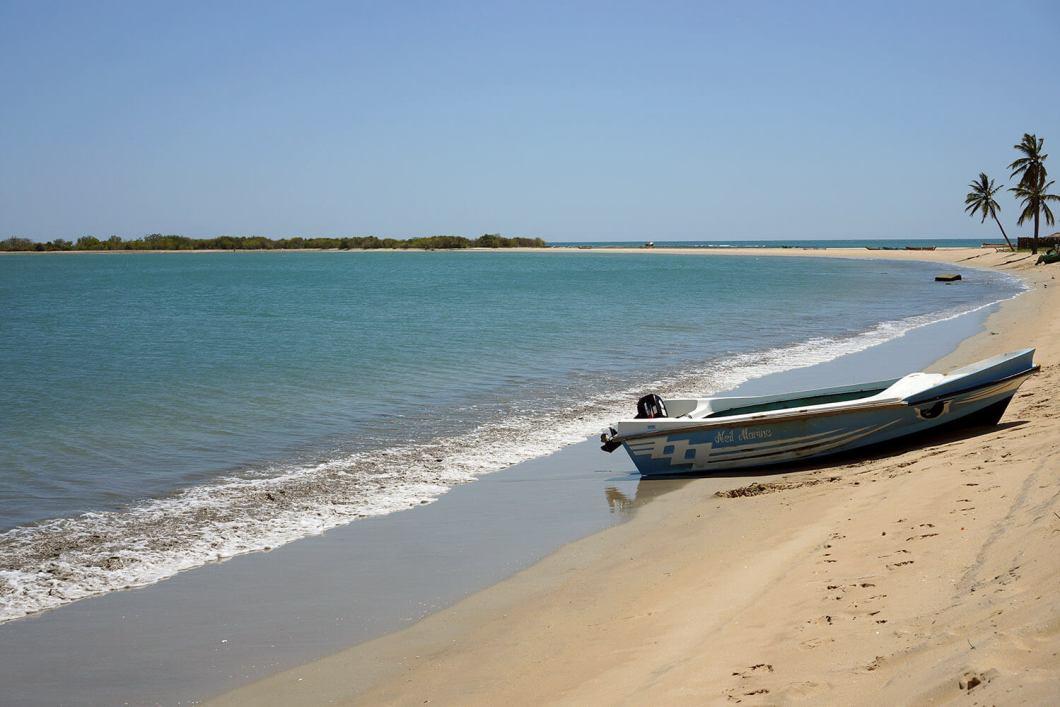 Une jolie plage déserte que nous a fait découvrir notre hôte