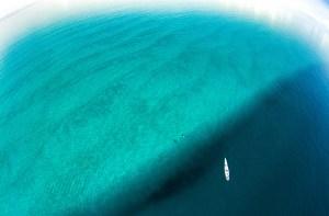 Aerial view of Mafia Island, Tanzania