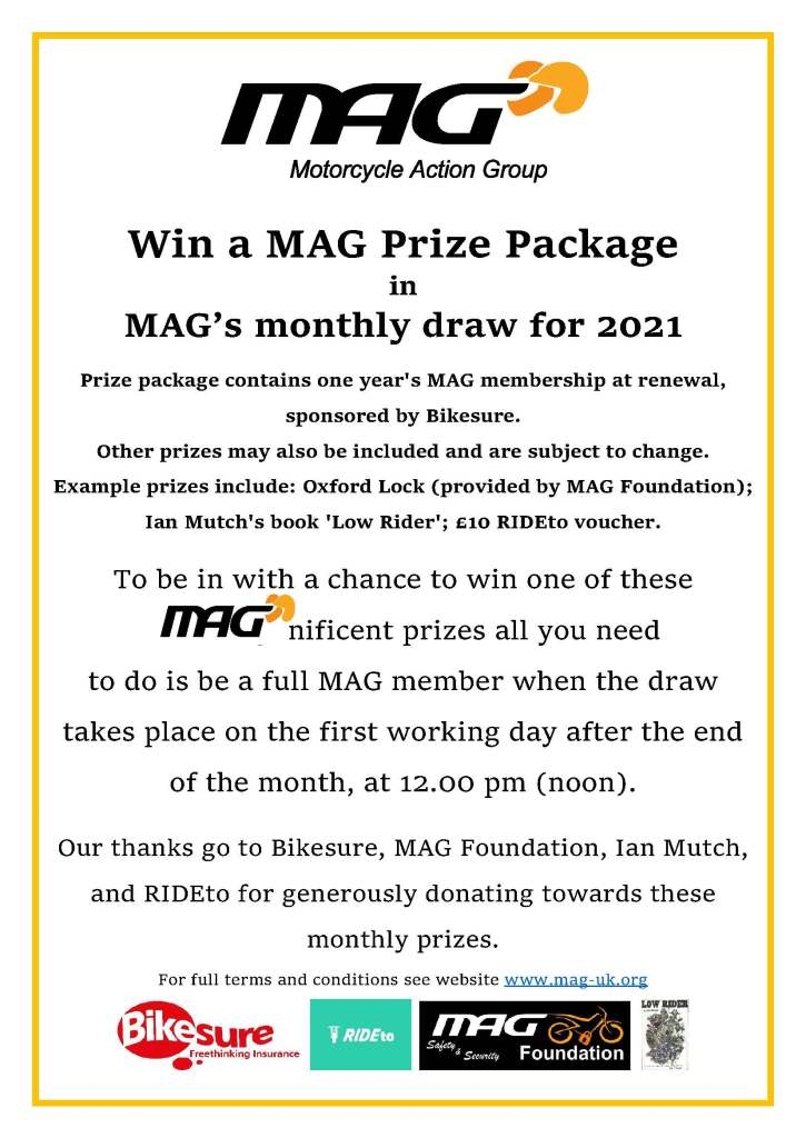 MAG monthly prize draw