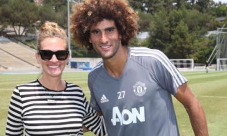 - 662622656 B9712609309Z - Fellaini pose avec Julia Roberts (photo) -  actu diables rouges
