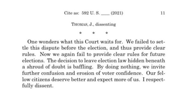 """BREAKING: Justices Kavanaugh, Coney-Barrett and Roberts Join Liberal Supreme Court Justices Who REFUSED To Review PA Election Cases…Justice Thomas Asks: """"One wonders what this Court waits for?"""""""