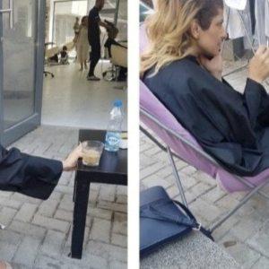 ФОТО: Наместо дома во карантин, Лукаревска во фризерски салон – Еве зошто пола шефови во СДСМ се заразени!
