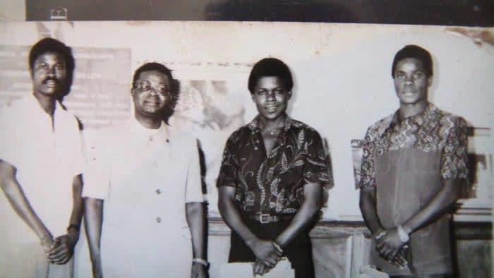 Campus universitaire de Kinshasa: Lilo Miango, recteur Vunduawe Te Pemako, Nila Mbungu et le karatéka Me Moka (étudiant).