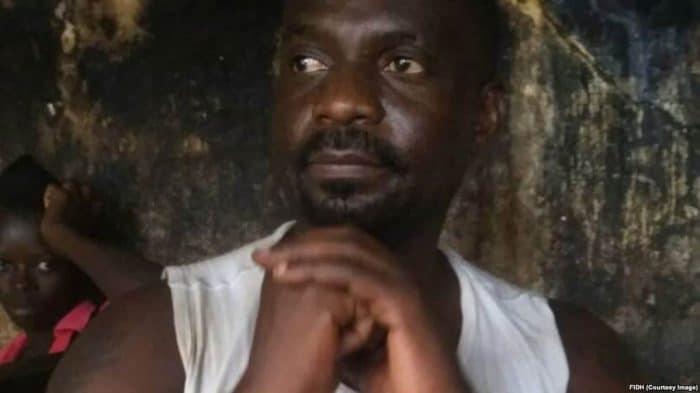 Colonel congolais Freddy Libeba dans une prison en Centrafrique.