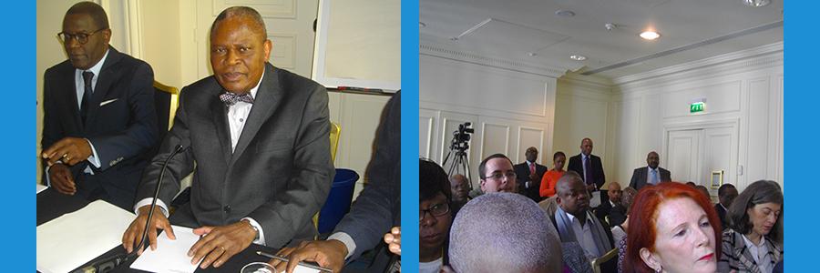 Conférence de presse à Paris du politique congolais Benoît Koukebene: et voici RADIO TELEMA.